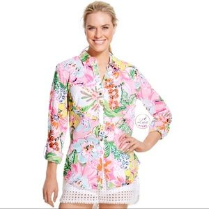 Lilly Pulitzer Nosey Posey Shirt Button Down Targe